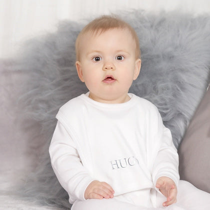 Personalised White Cotton Bib-Dcaro Personalised Gifts