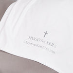 Personalised White - Silver Christening Blanket-Dcaro Personalised Gifts