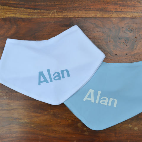 personalised bandana bib set