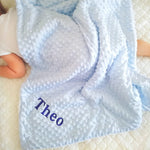 Personalised Blue Bubble Fleece Blanket