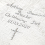 Personalised White Christening Baby Shawl