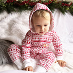 Personalised Christmas Red Baby Romper