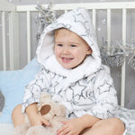 Personalised Grey Star Baby Bathrobe