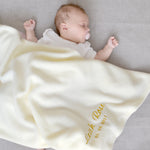 Personalised Ivory Fleece Blanket