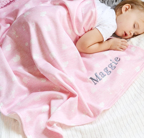 Personalised Pink Baby Blanket