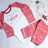 Personalised Red Christmas Baby And Kids Pyjama