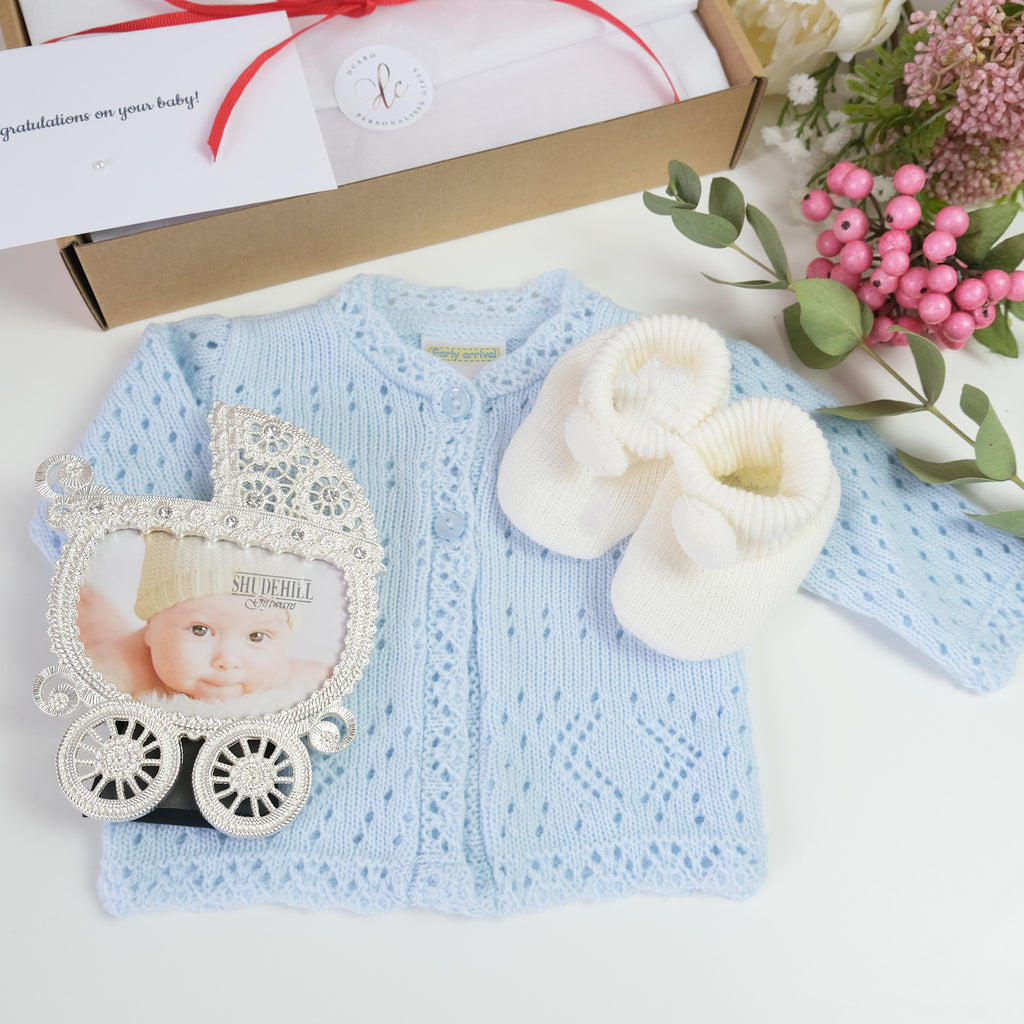 personalised gift set for new baby