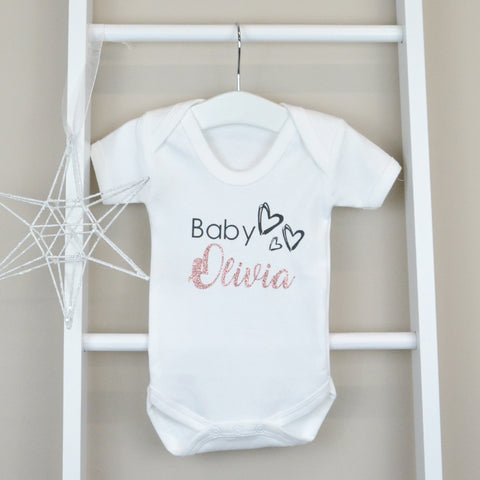 Personalised Cotton Glitter Bodysuit