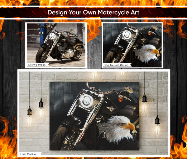 Custom Motor Cycle - Harley