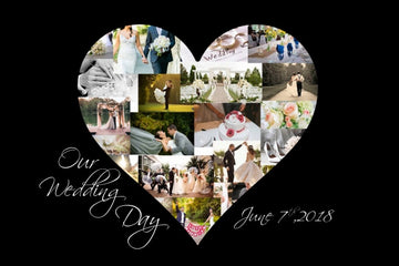 Wedding-Black - Yes, You design your Own Custom Collage!!