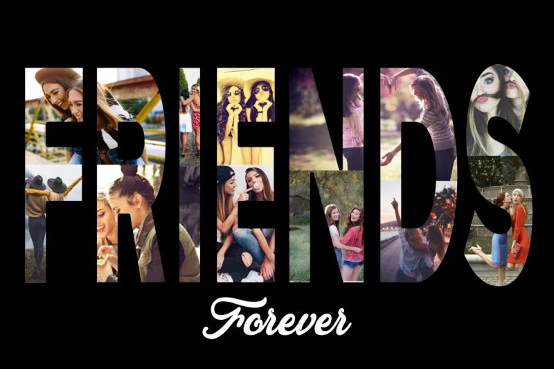 Friends 2 Custom Collage Art | Personalized Canvas & Metal ...