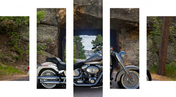 3. 417149186 - Iron Mountain Road & Pigtail Bridge - Yes!! 5 Pcs You Make Your Own MOTOR CYCLE  Art Here- Just Add this Template to Cart & Send Us the Photo Of Your Bike!! Our Graphic Designers Show You The Proof - Then We Do the Rest!!