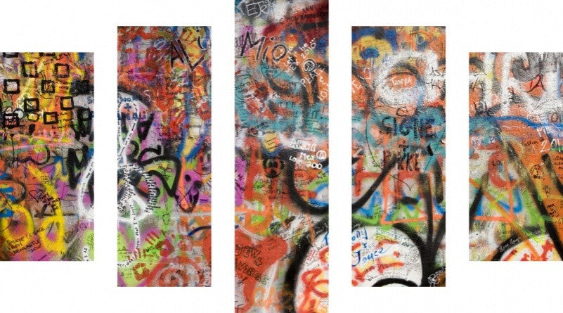 MacJac Art 5 Panel CANVAS John Lennon Peace Wall Theme Wall Art Photography Prints Model 5PC-AL-0420