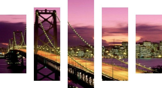 MacJac Art 5 Panel CANVAS New York City Theme Wall Art Photography Prints Model 5PC-AL-0141