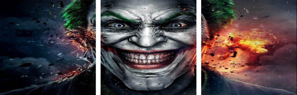 MacJac Art 3-Panel VINYL Joker Theme Wall Art Photography Prints Model AL-4171475