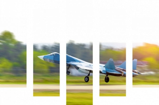 5PC AL 417148860   Military Plane Aircraft Fighter Jet Takes Off