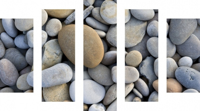 MacJac Art 5 Panel CANVAS Pebbles Theme Wall Art Photography Prints Model 5PC-AL-0370