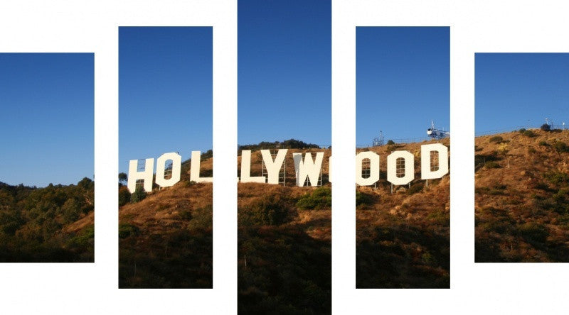 MacJac Art 5 Panel CANVAS Hollywood Sign Theme Wall Art Photography Prints Model 5PC-AL-0435