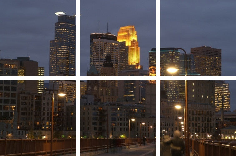 MacJac Art 6-Panel VINYL Minneapolis Theme Wall Art Photography Prints Model AL-0235