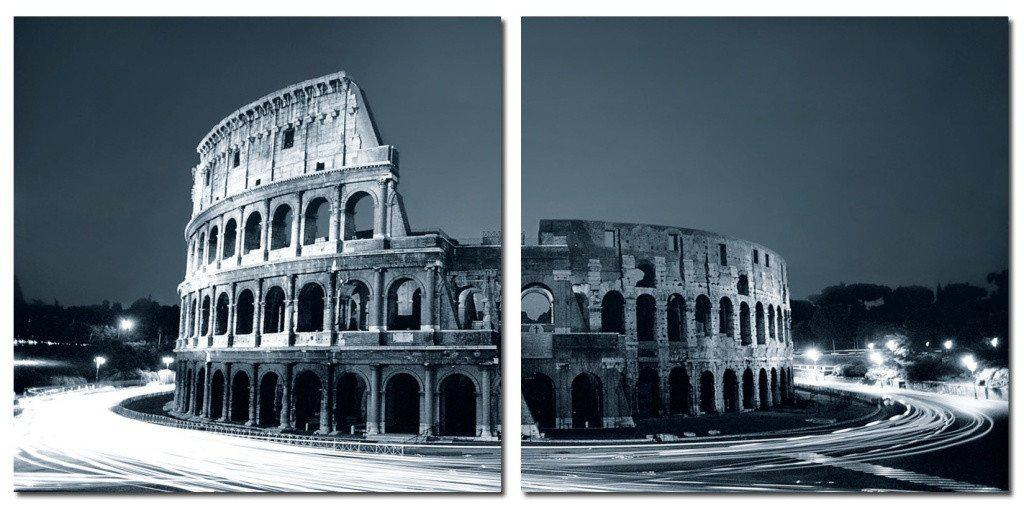 MacJac Art 2-Panel VINYL The Colosseum, Rome Theme Wall Art Photography Prints Model CH-7305