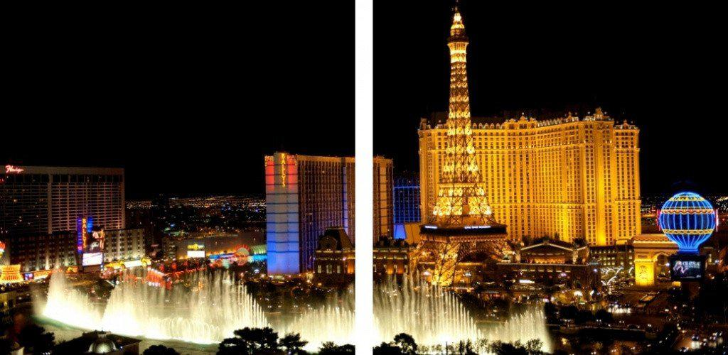 MacJac Art 2-Panel VINYL Las Vegas Bellagio Theme Wall Art Photography Prints Model AL-0453