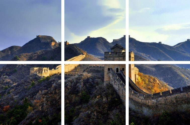 MacJac Art 6-Panel VINYL Great Wall of China Theme Wall Art Photography Prints Model AL-41581