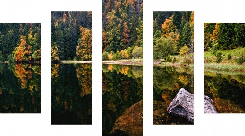 MacJac Art 5 Panel METAL Water Lake Theme Wall Art Photography Prints Model 5PC-AL-0213