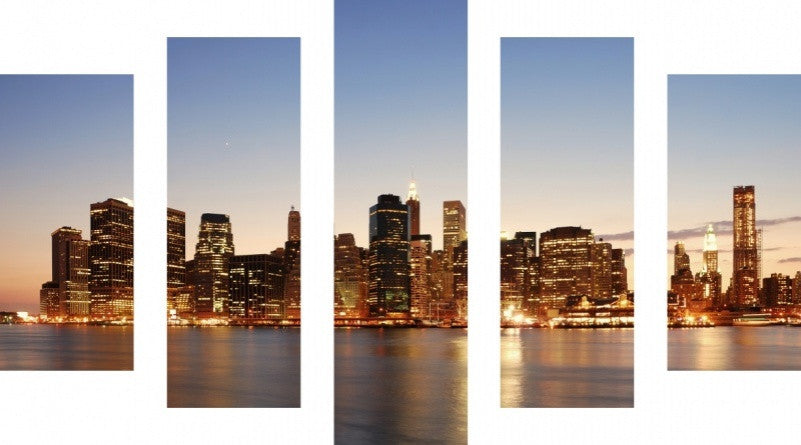 MacJac Art 5 Panel METAL New York City Theme Wall Art Photography Prints Model 5PC-AL-0128