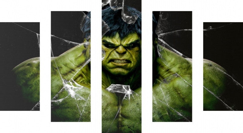 MacJac Art 5 Panel CANVAS Hulk Theme Wall Art Photography Prints Model 5PC-AL-4171474