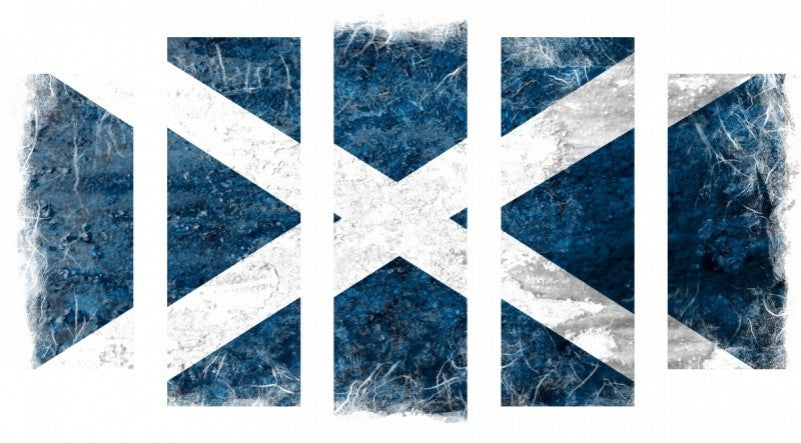 MacJac Art 5 Panel METAL Scotland Flag Grunge Theme Wall Art Photography Prints Model 5PC-AL-0301