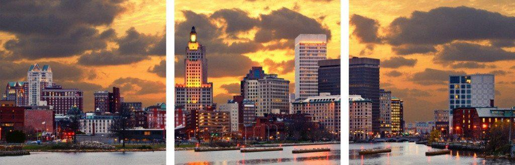 MacJac Art 3-Panel VINYL Providence Rhode Island Theme Wall Art Photography Prints Model AL-41721