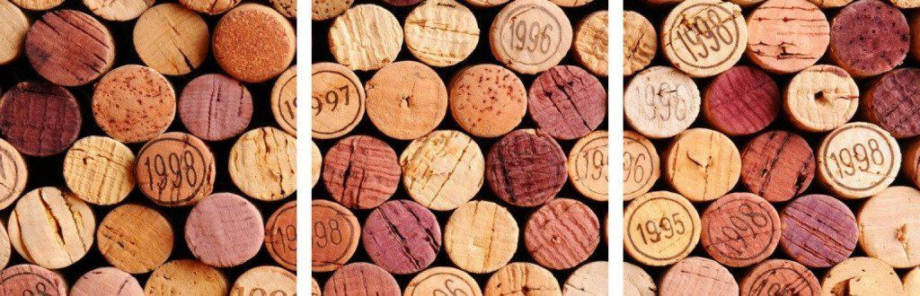 MacJac Art 3-Panel VINYL Wine Corks Theme Wall Art Photography Prints Model AL-0442
