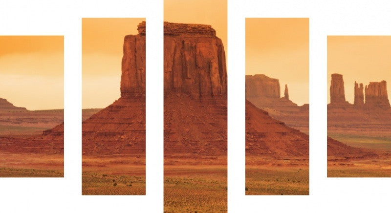 MacJac Art 5 Panel CANVAS Arizona Theme Wall Art Photography Prints Model 5PC-AL-41417