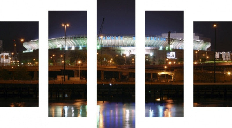 MacJac Art 5 Panel CANVAS Yankee Stadium Theme Wall Art Photography Prints Model 5PC-AL-0193