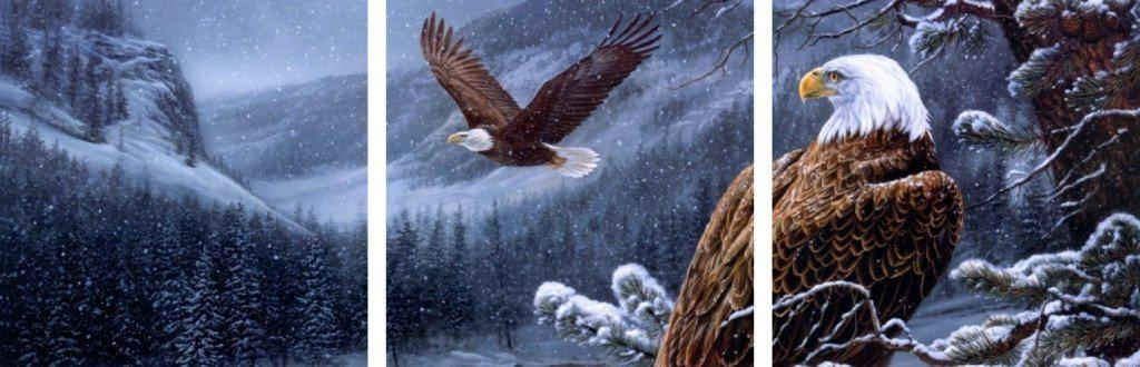 MacJac Art 3-Panel VINYL Eagles Theme Wall Art Photography Prints Model AL-41671