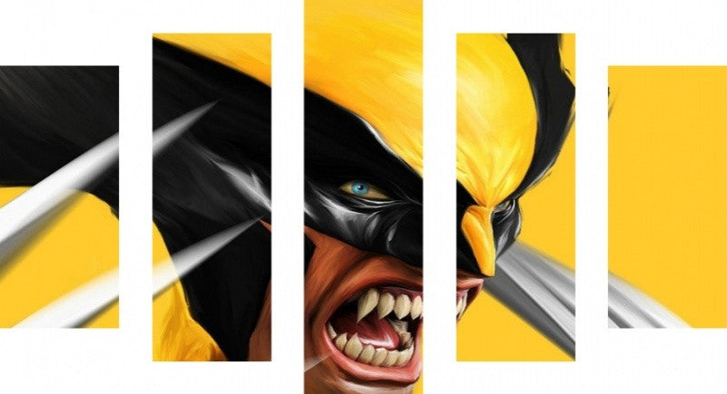MacJac Art 5 Panel METAL Wolverine Theme Wall Art Photography Prints ...