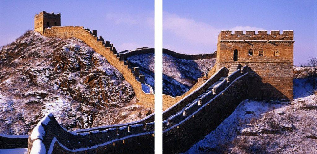 MacJac Art 2-Panel VINYL Great Wall of China Theme Wall Art Photography Prints Model AL-0148