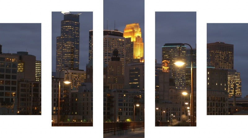 MacJac Art 5 Panel CANVAS Minneapolis Theme Wall Art Photography Prints Model 5PC-AL-0235