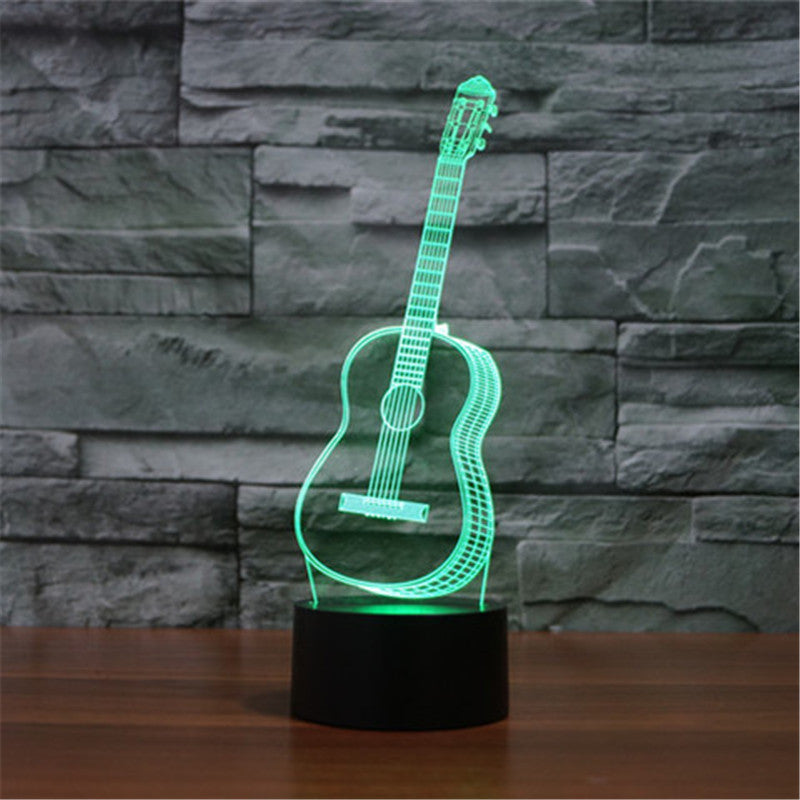 Six Strings Guitar Night Light- 3D LED Lamp