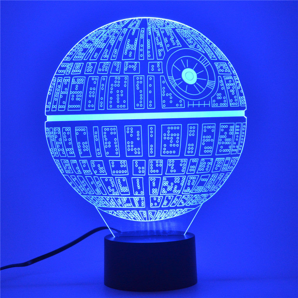 Death Star Night Light- 3D LED Lamp