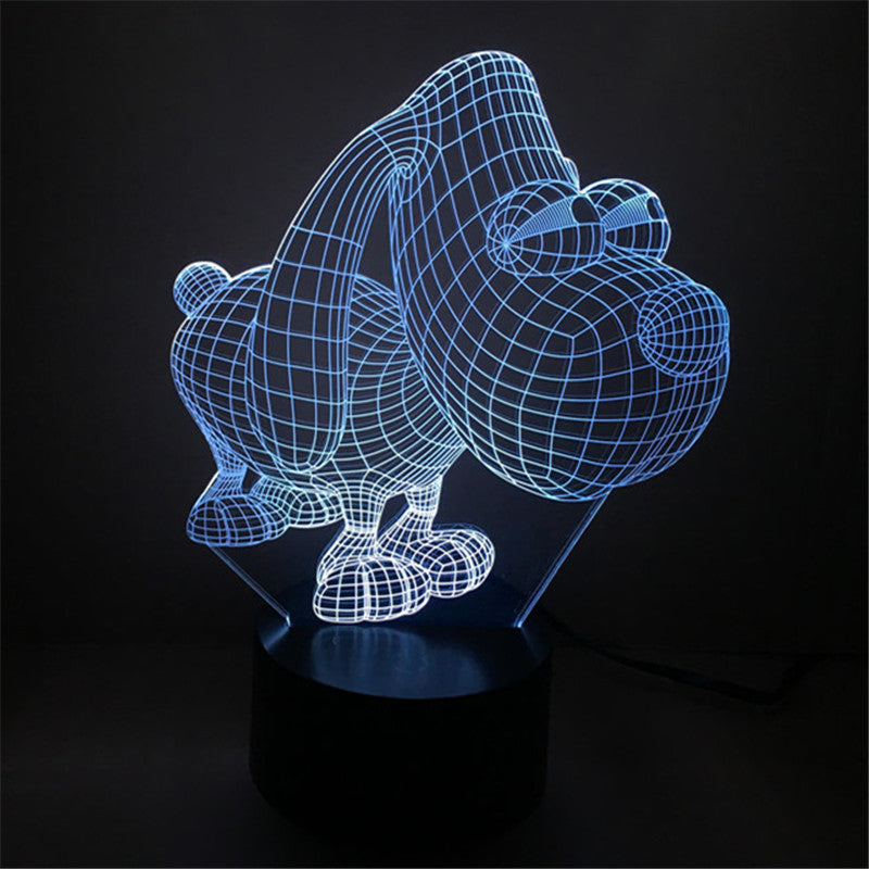 Big Eye Dog Night Light- 3D LED Lamp