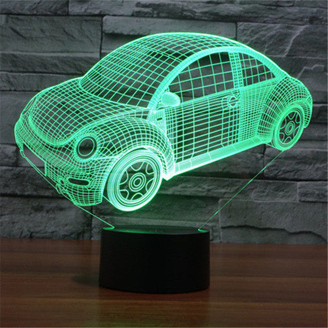 Creative Car Desk Night Light- 3D LED Lamp