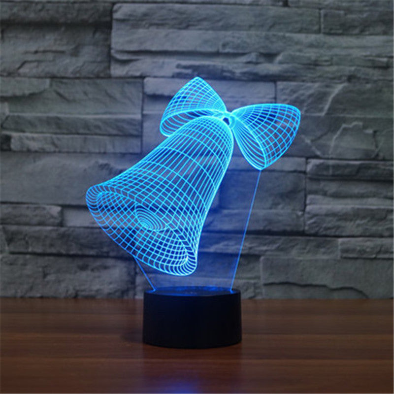 Christmas Bells Night Light- 3D LED Lamp