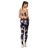 Retro floral yoga suit