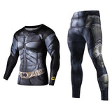 Men Fitness Clothing superhero set