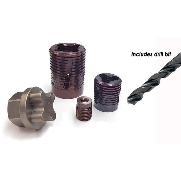 Permanent Platen Thread Insert with Drill Bits (Inches) - Plastics Solutions USA