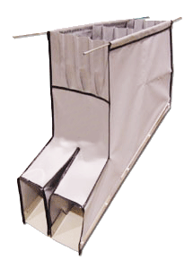 SIDE BY SIDE DETACHABLE CHUTE GUIDESKIRT