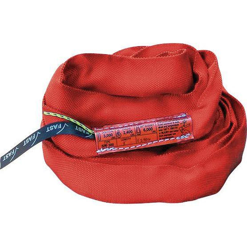SPF 1400 (Red) Polyester Round Slings - Plastics Solutions USA