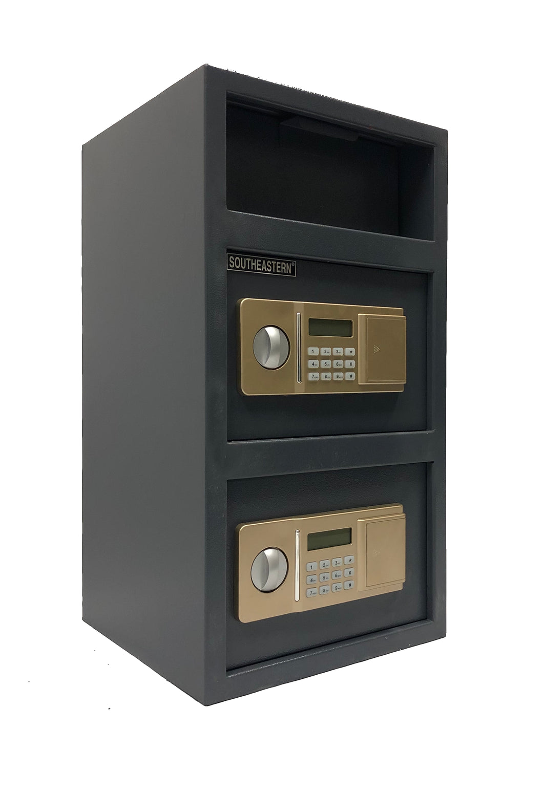 SOUTHEASTERN F2614EEVN Double Door Money Drop Depository Safe with Quick Access Electronic Lock & Back up Key