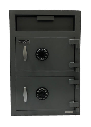 SOUTHEASTERN Double door depository drop safe with UL listed mechanical lock